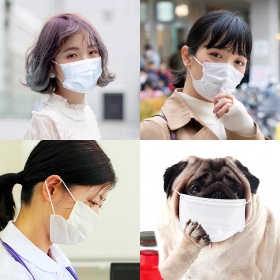 マスクの裏表があっている人は誰?(プリーツタイプ)